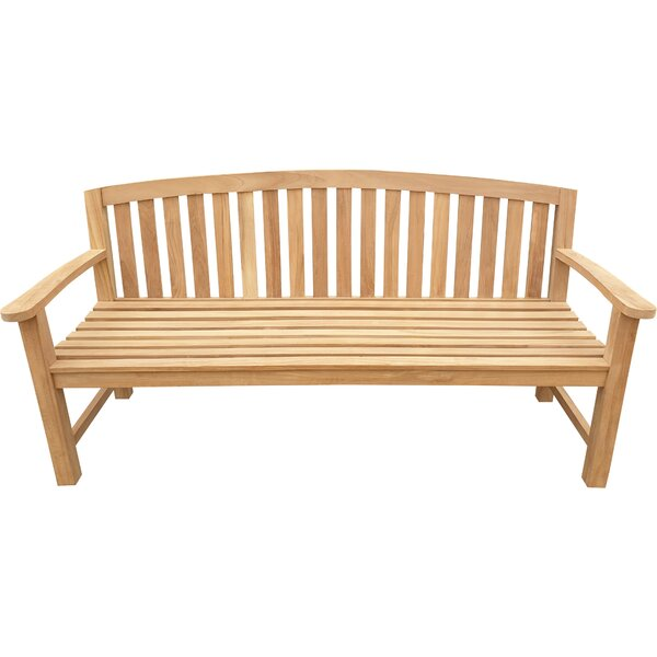 Cato Teak Garden Bench by Highland Dunes