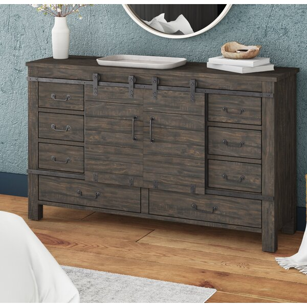 Monett Sliding Door 9 Drawer Combo Dresser by Foundry Select Foundry Select