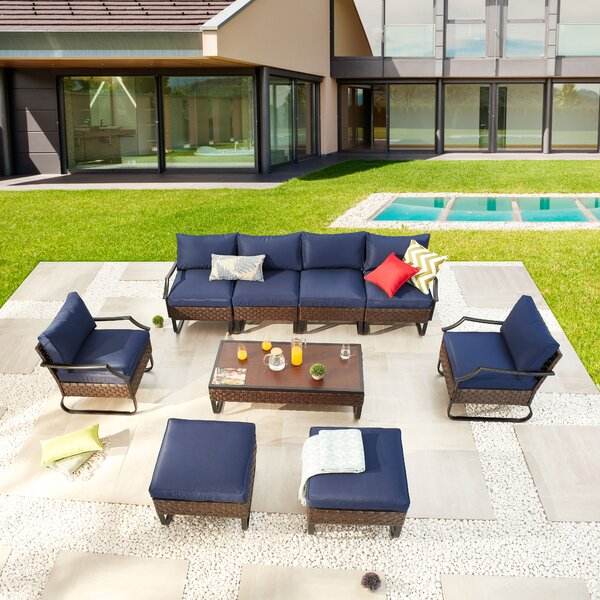 Carmorn Outdoor 9 Piece Sofa Seating Group With Cushions By Red Barrel Studio®