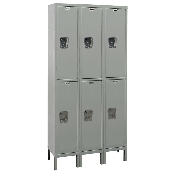 TaskForceXP 2 Tier 3 Wide School Locker by Hallowell
