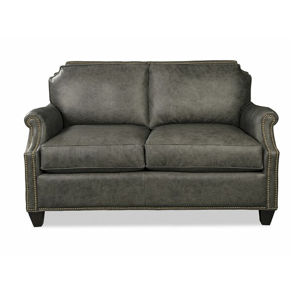 Steel Leather Loveseat By Craftmaster