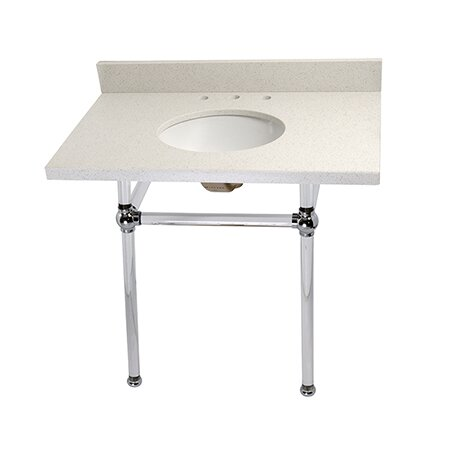 Templeton Ceramic 36 Console Bathroom Sink with Overflow by Kingston Brass