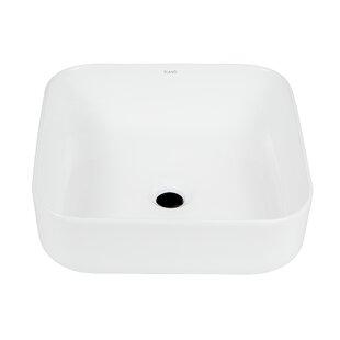 Online Reviews Ceramic Square Vessel Bathroom Sink By Elanti