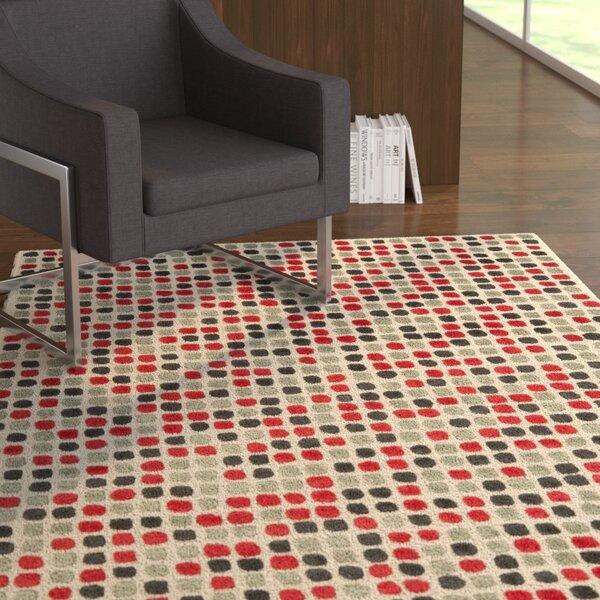 Chidi Ivory Wool Rug by Ebern Designs