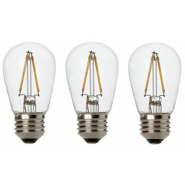 11W E26/Medium (Standard) LED Vintage Filament Light Bulb (Set of 3) by Newhouse Lighting