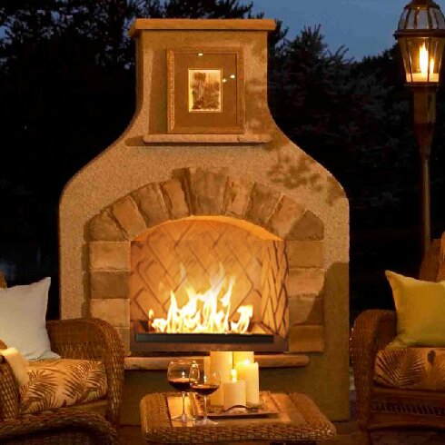 Sonoma Steel Gas Outdoor Fireplace by The Outdoor GreatRoom Company