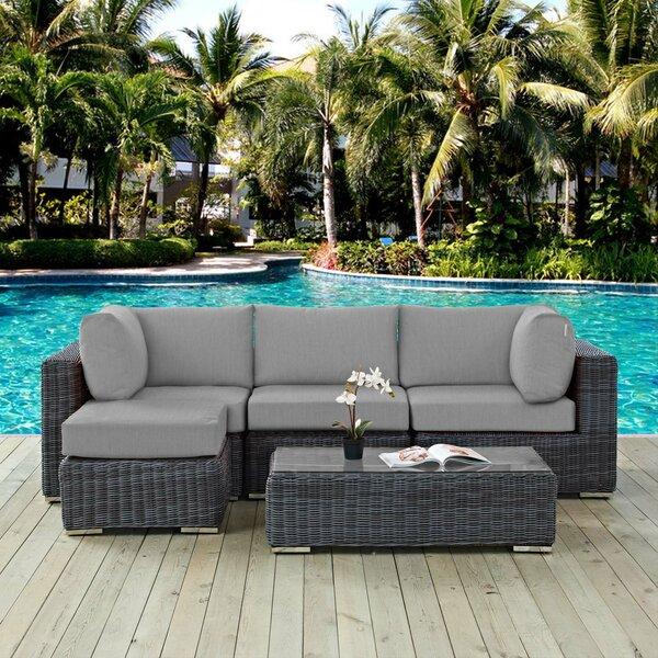 Keiran 5 Piece Sunbrella Sofa Set with Cushions by Brayden Studio