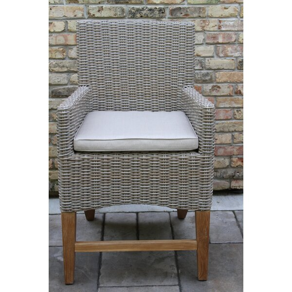 Caelan Patio Dining Chair with Cushion by Beachcrest Home
