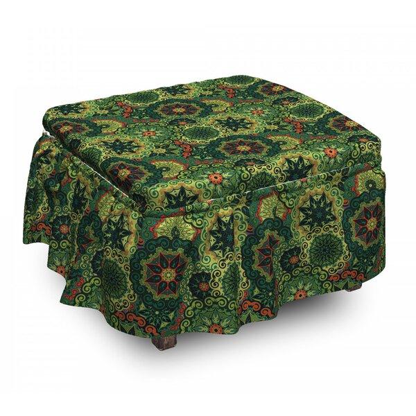 Mandala Native Culture 2 Piece Box Cushion Ottoman Slipcover Set By East Urban Home