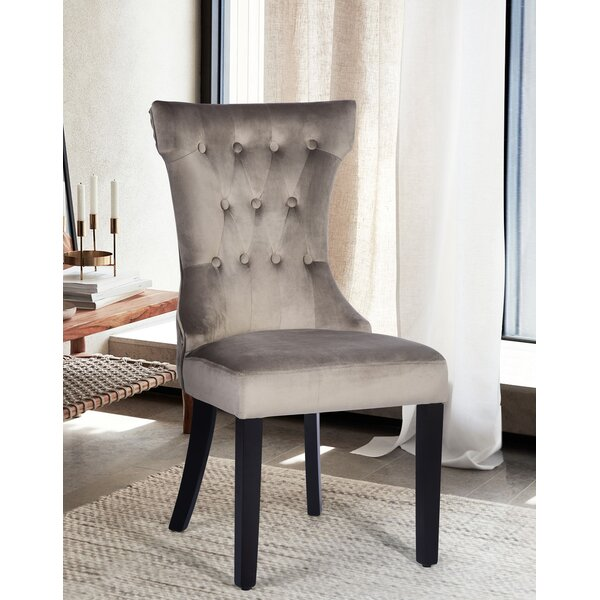 Petrucci Tufted Velvet Upholstered Wingback Parsons Chair (Set of 2) by House of Hampton House of Hampton®