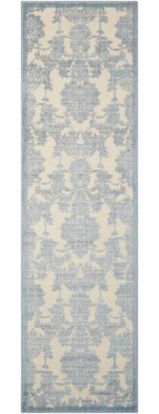 Bacourt Ivory/Light Blue Area Rug by Lark Manor