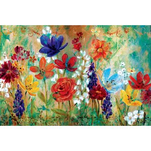 'Wildflower Fresco I' Painting Print on Wrapped Canvas by Andover Mills