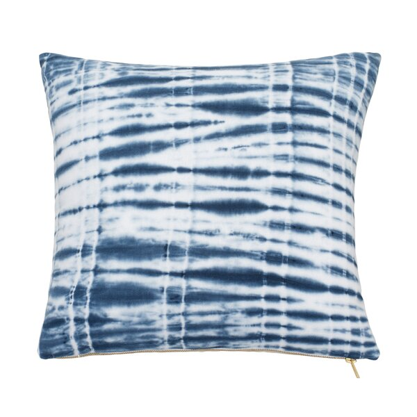 Shibori Chic Cotton Throw Pillow by Under the Canopy
