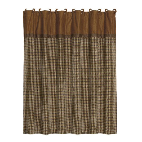 Furiani Polyester Houndstooth Shower Curtain by Loon Peak