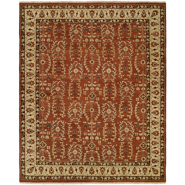 Fazilka Hand-Knotted Allspice / Beige Area Rug by Meridian Rugmakers