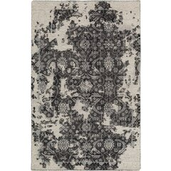 Gulshan Hand-Knotted Black/Beige Area Rug by Bungalow Rose