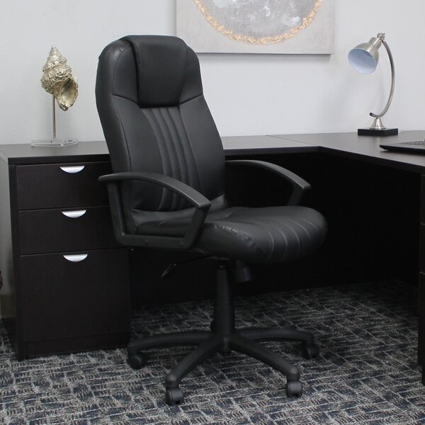 Dundridge Leather Executive Chair by Charlton Home