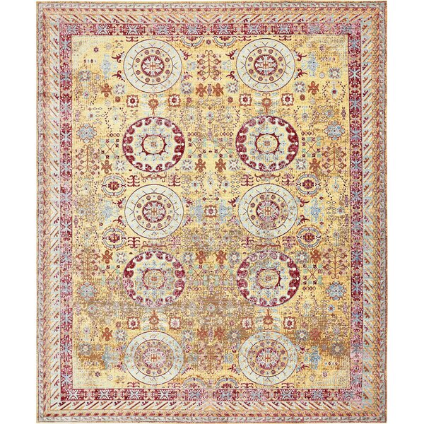 Carrico Yellow Area Rug by Mercury Row