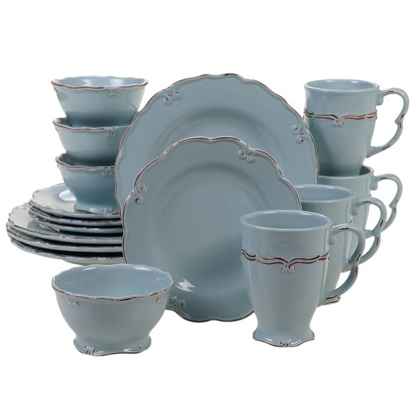 Sumter Vintage 16 Piece Dinnerware Set, Service for 4 by Ophelia & Co.