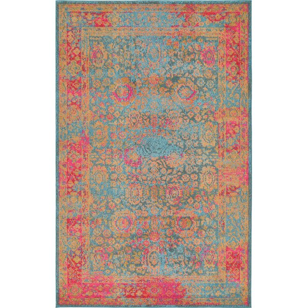 Enid Blue Area Rug by Bungalow Rose