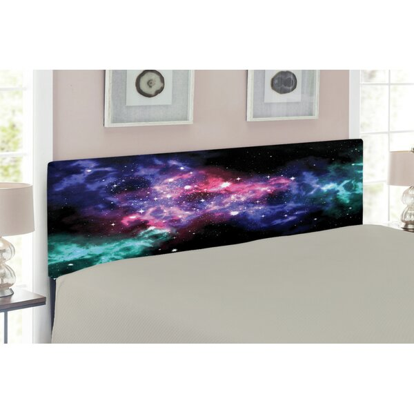 Outer Space Queen Upholstered Panel Headboard by East Urban Home