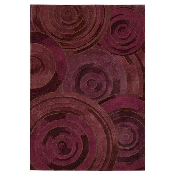 Palisades Ovation Hand-Tufted Plum Area Rug by Kathy Ireland Home