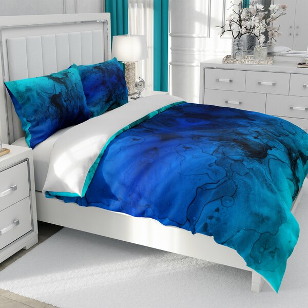 Mélanie Stained Watercolor Duvet Cover Set