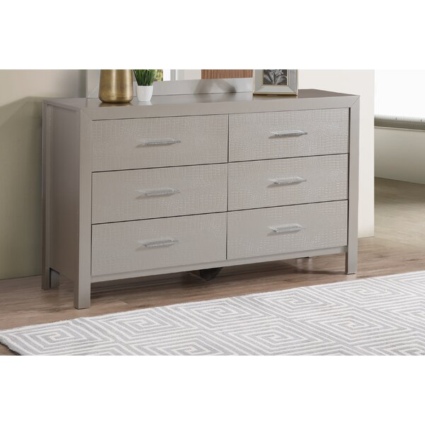 Raye 6 Drawer Double dresser by Everly Quinn