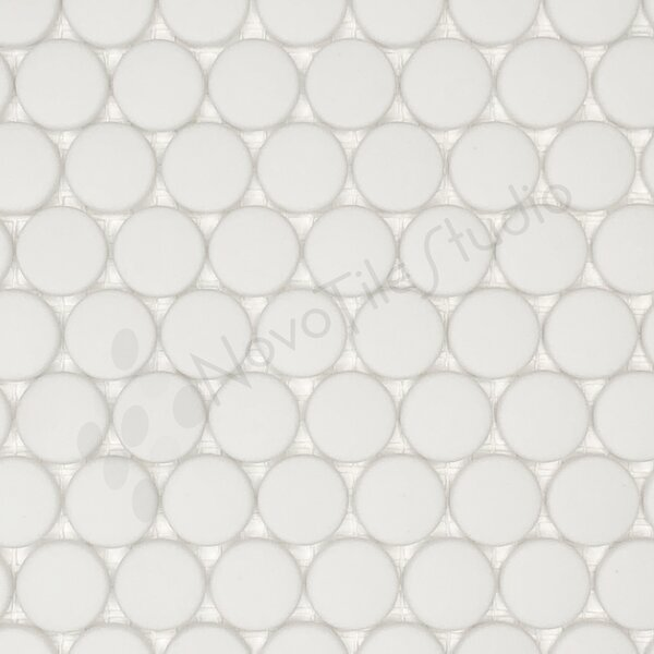 Capri 0.8 x 0.8 Glass Mosaic Tile in White by NovoTileStudio