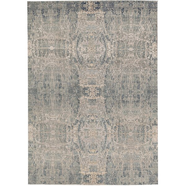 One-of-a-Kind Windsom Hand-Knotted Gray 9'10 x 13'9 Area Rug