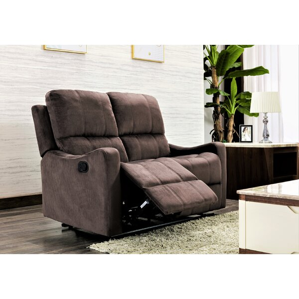 Stay On Trend This Aurik Reclining Loveseat by Winston Porter by Winston Porter