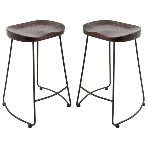 Hathaway Brage Living Adjustable Height Barstool (Set of 2) by Union Rustic