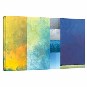 'Textured Earth Panel' Painting Print on Wrapped Canvas by Latitude Run