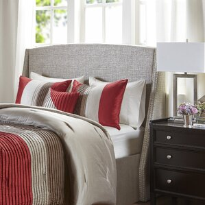 Sherell Upholstered Wingback Headboard by Everly Quinn