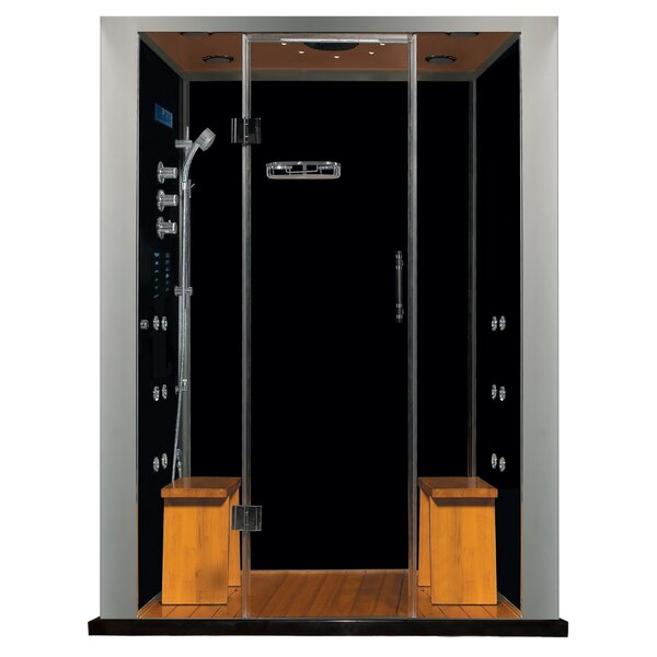 Royal Care 59 x 84 Rectangle Hinged Steam Shower with Base Included