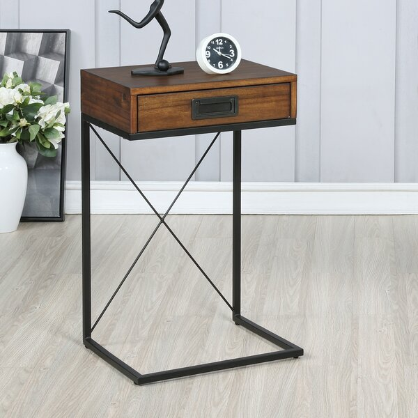 Laidley End Table With Storage By Williston Forge