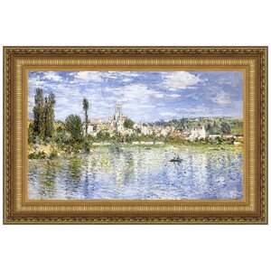 Vetheuil in Summer, 1880 by Claude Monet Framed Painting Print by Design Toscano