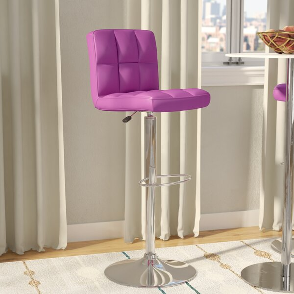 Hirano Adjustable Height Swivel Bar Stool by Zipco