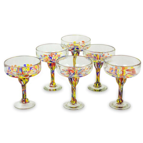 Confetti Festival Margarita Glass (Set of 6) by Novica
