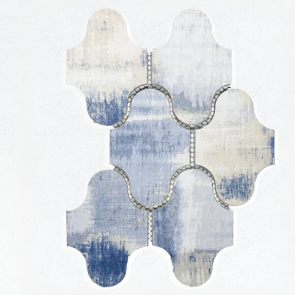 Nature Swag 3.5 x 5.13 Glass Mosaic Tile in Blue/Gray by Abolos