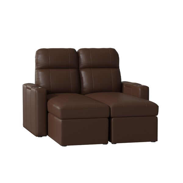 Leather Leather Home Theater Loveseat  (Row Of 2) (Set Of 2) By Red Barrel Studio