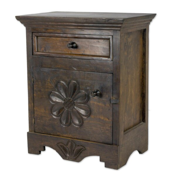 Alvares 1 Drawer Nightstand by Gracie Oaks