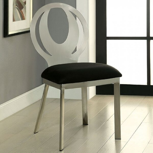 Quillin Upholstered Side Chair In Black/White (Set Of 2) By Latitude Run