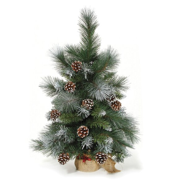 24 Green Pine Trees Artificial Christmas Tree with Pinecones by Darice