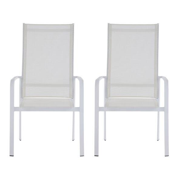 Malibu Stacking Patio Dining Chair (Set of 2) by Latitude Run