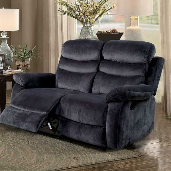 Best Offer Magoon Traditional Upholstered Reclining Loveseat by Red Barrel Studio by Red Barrel Studio
