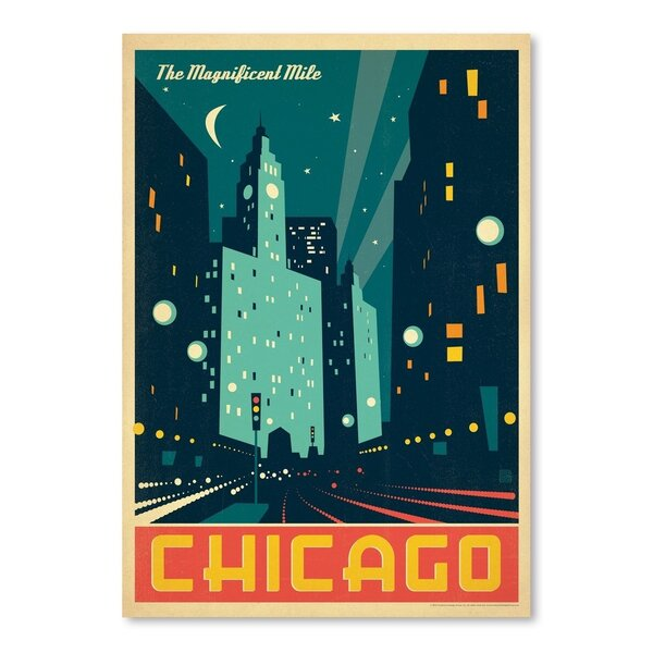 Chicago: Modern Magnificent Mile Vintage Advertisement by East Urban Home