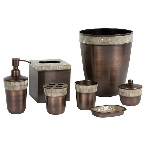 Opal Copper 7-Piece Bathroom Accessory Set by Paradigm Trends