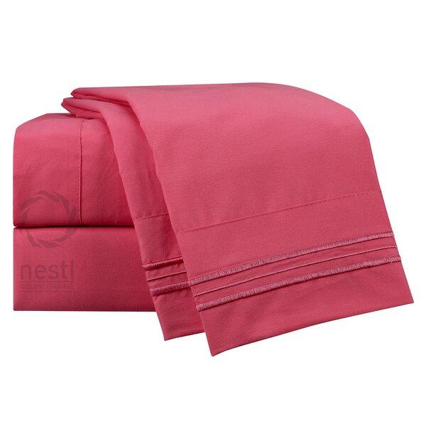 Flamingo Microfiber Sheet Set by Nestl Bedding