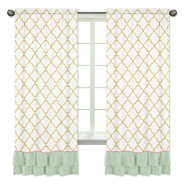 Ava Window Geometric Semi-Opaque Rod Pocket Curtain Panels (Set of 2) by Sweet Jojo Designs